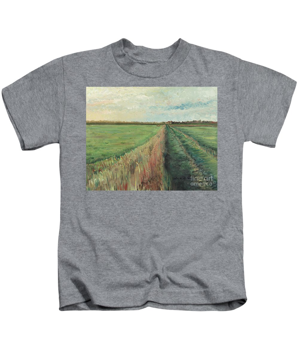 Provence Kids T-Shirt featuring the painting Provence Villa by Nadine Rippelmeyer