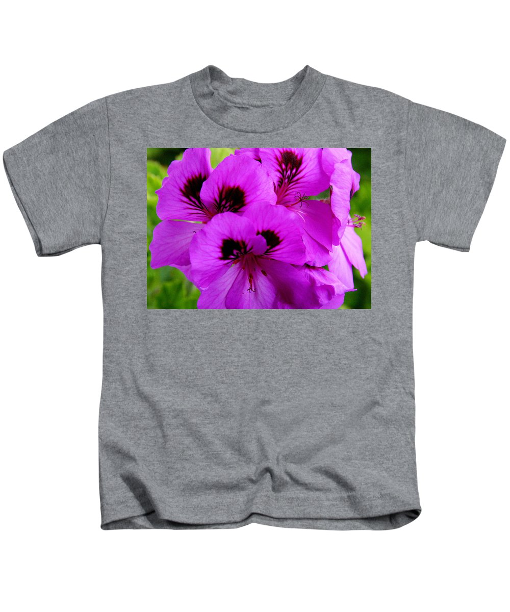Purple Flowers Kids T-Shirt featuring the photograph Purple Flowers by Anthony Jones