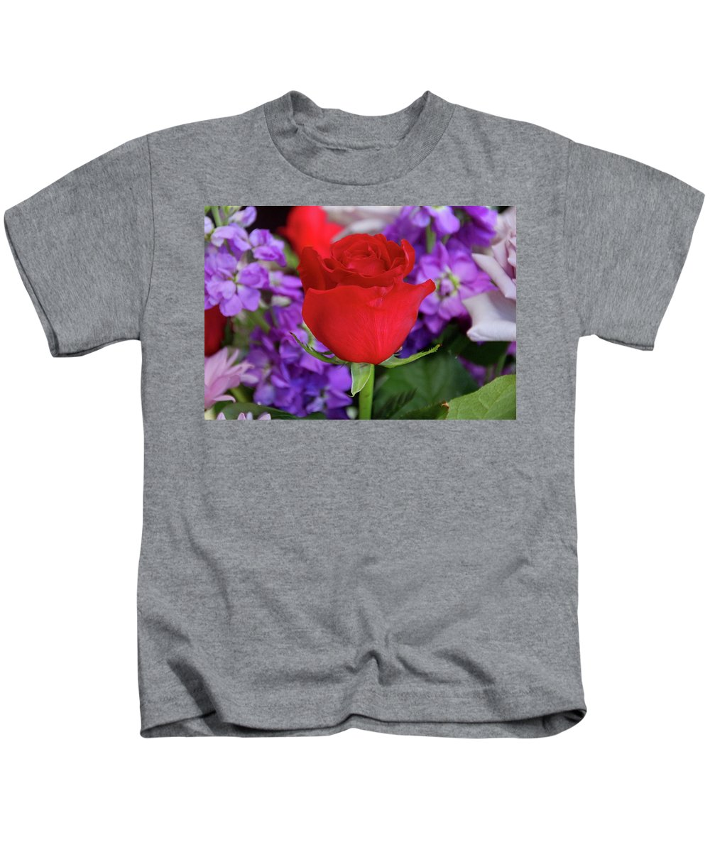 Rose Kids T-Shirt featuring the photograph Remember Us by Michiale Schneider