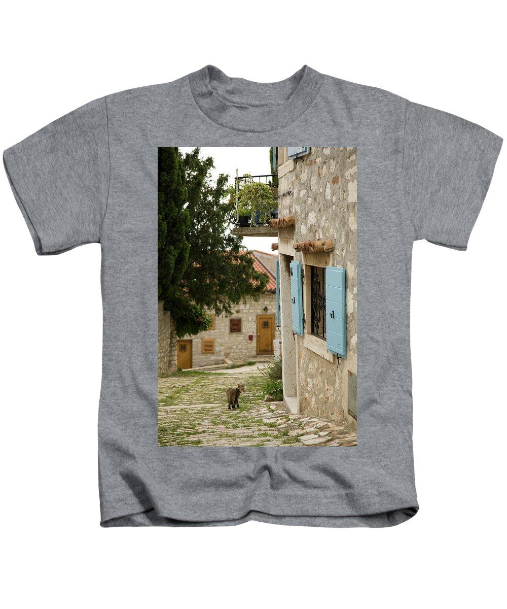 Croatia Kids T-Shirt featuring the photograph Rovinj by Ian Middleton