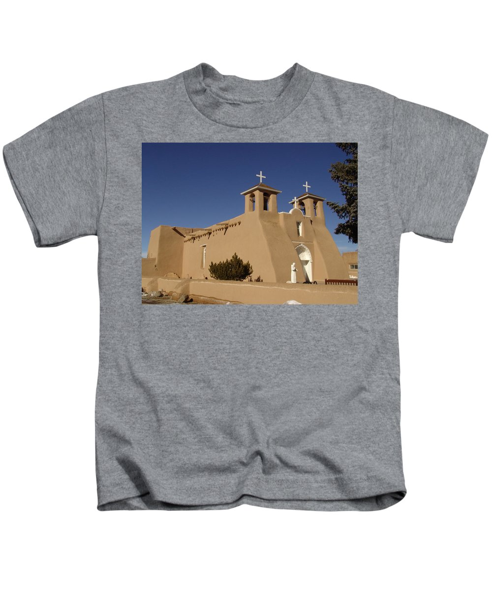 Church Kids T-Shirt featuring the photograph San Francisco De Asis Mission Church by Carol Milisen
