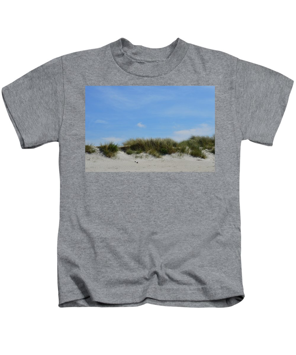Ocean Sand Dunes Kids T-Shirt featuring the photograph Sand Dunes At Keremma by Ludmila SHUMILOVA