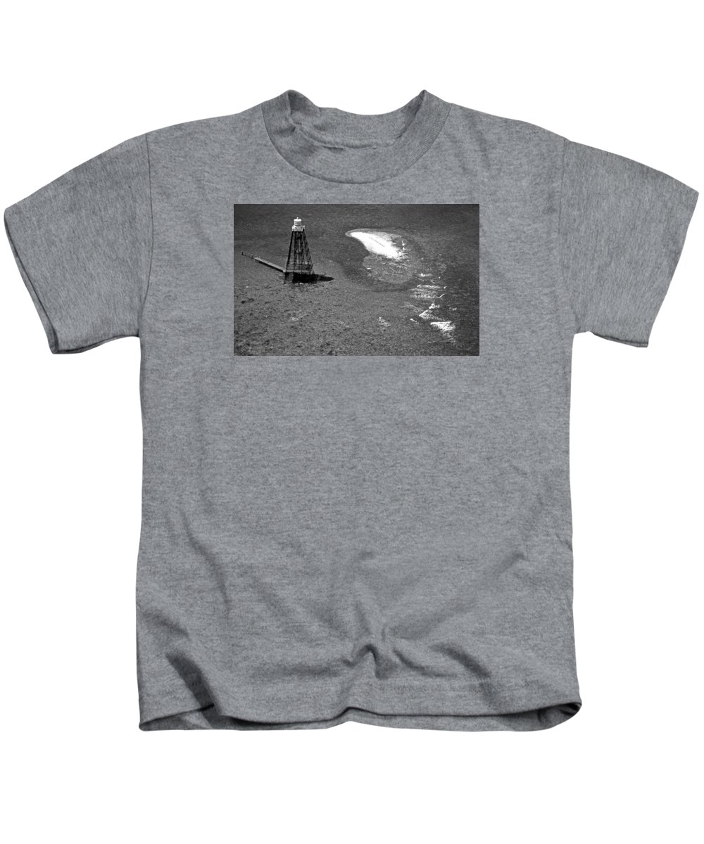 Lighthouses Kids T-Shirt featuring the photograph Sand Key Lighthouse Fl by Skip Willits