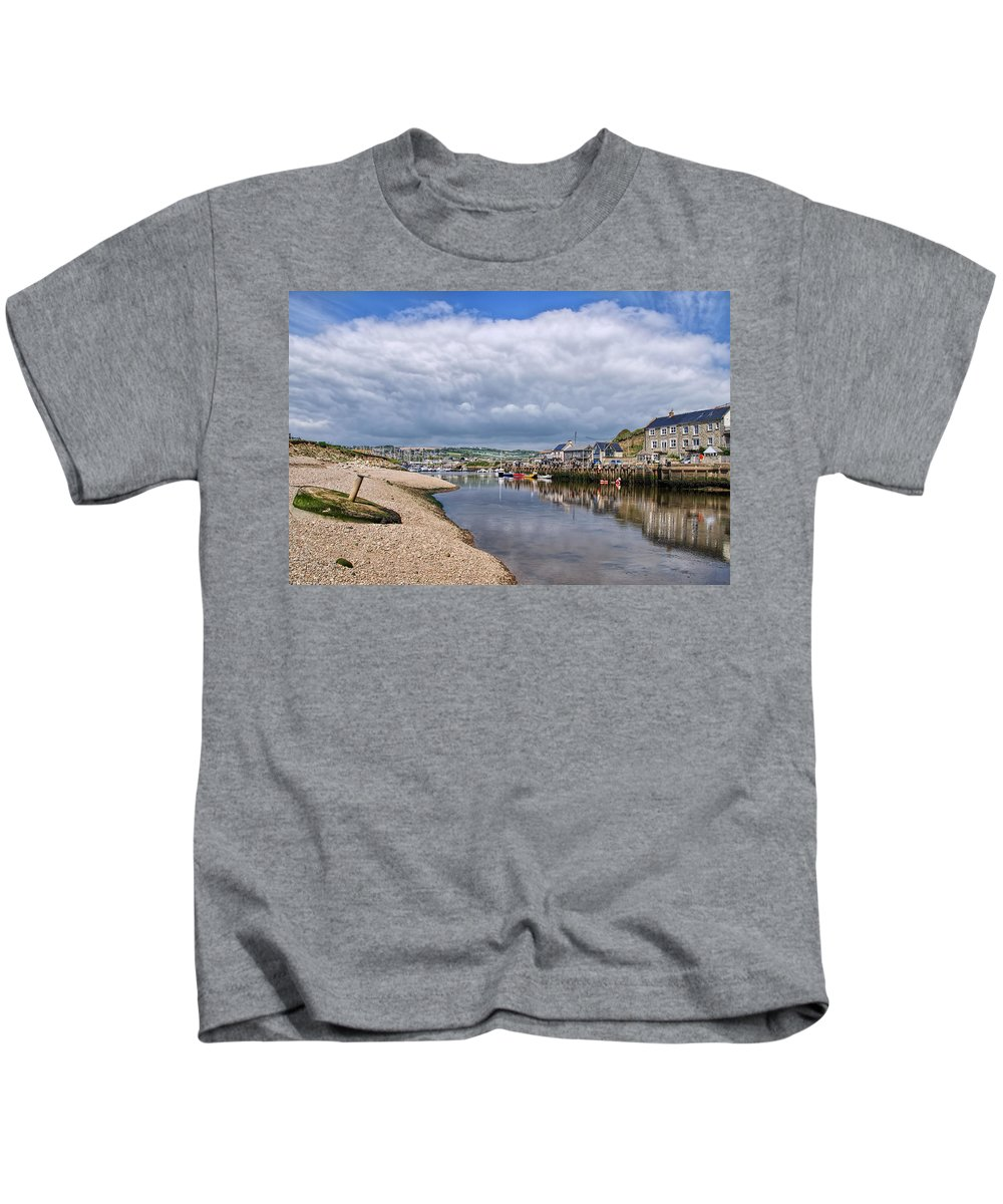 Seaton Kids T-Shirt featuring the photograph Seaton Harbour - Devon by Susie Peek