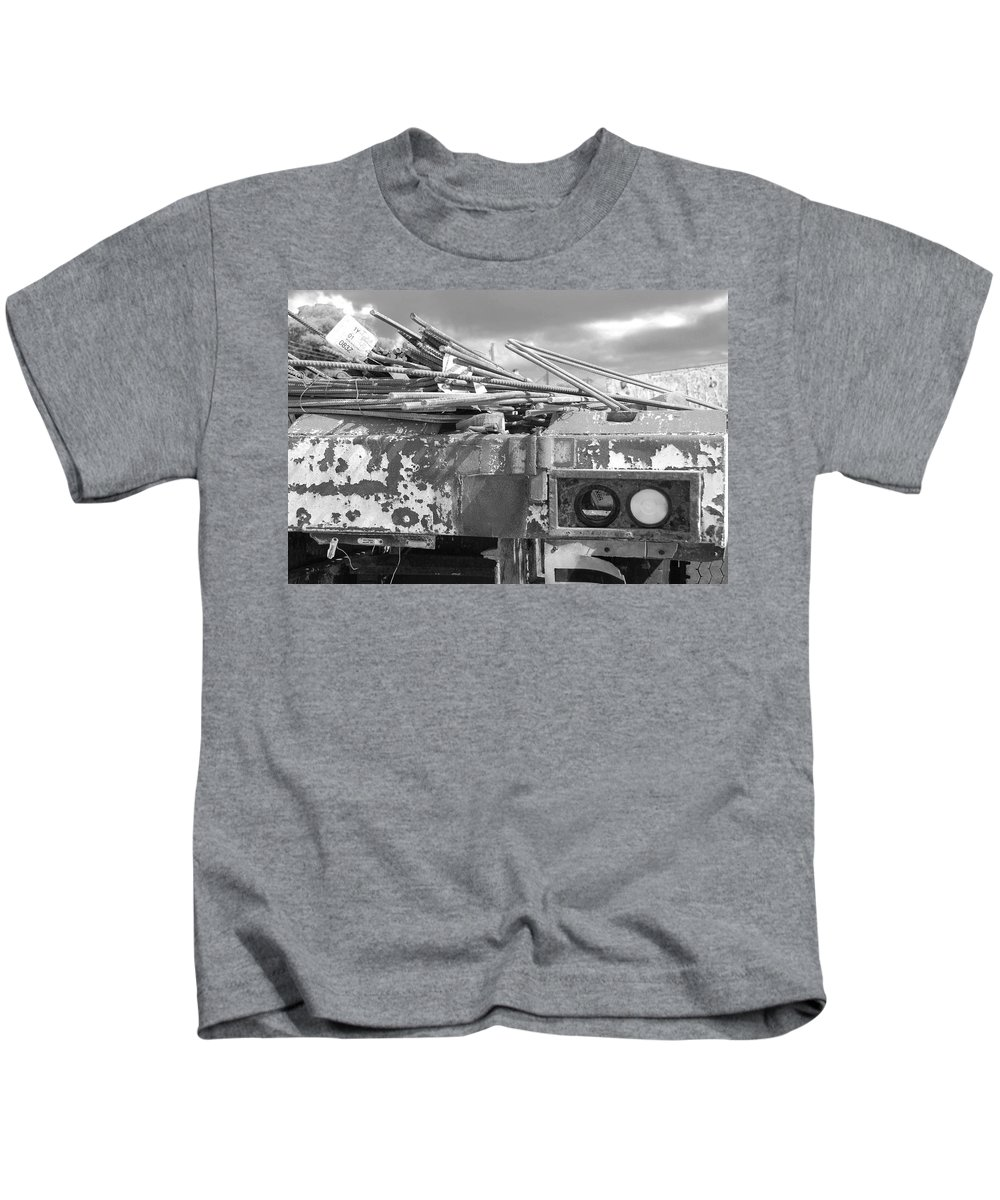 Black And White Kids T-Shirt featuring the photograph Sky Lights by Rob Hans