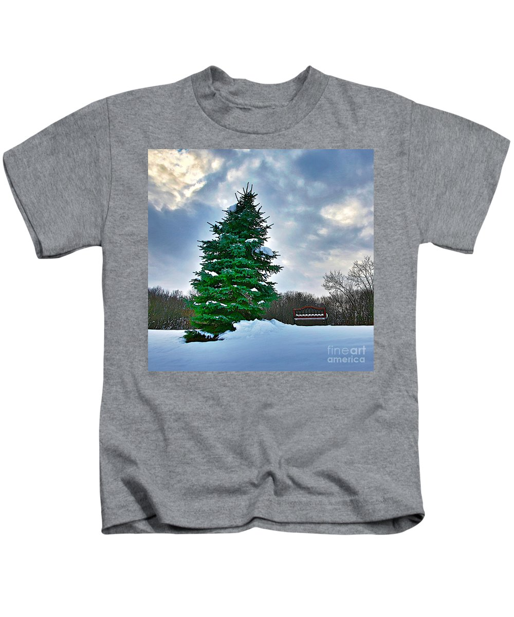 Snow Kids T-Shirt featuring the photograph Solitude by Robert Pearson