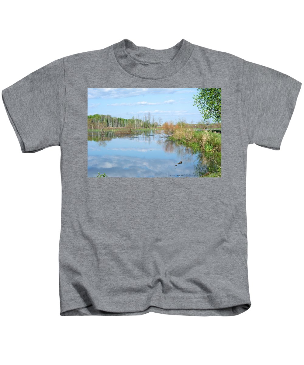 Landscape Kids T-Shirt featuring the photograph Spring Day by Linda Kerkau