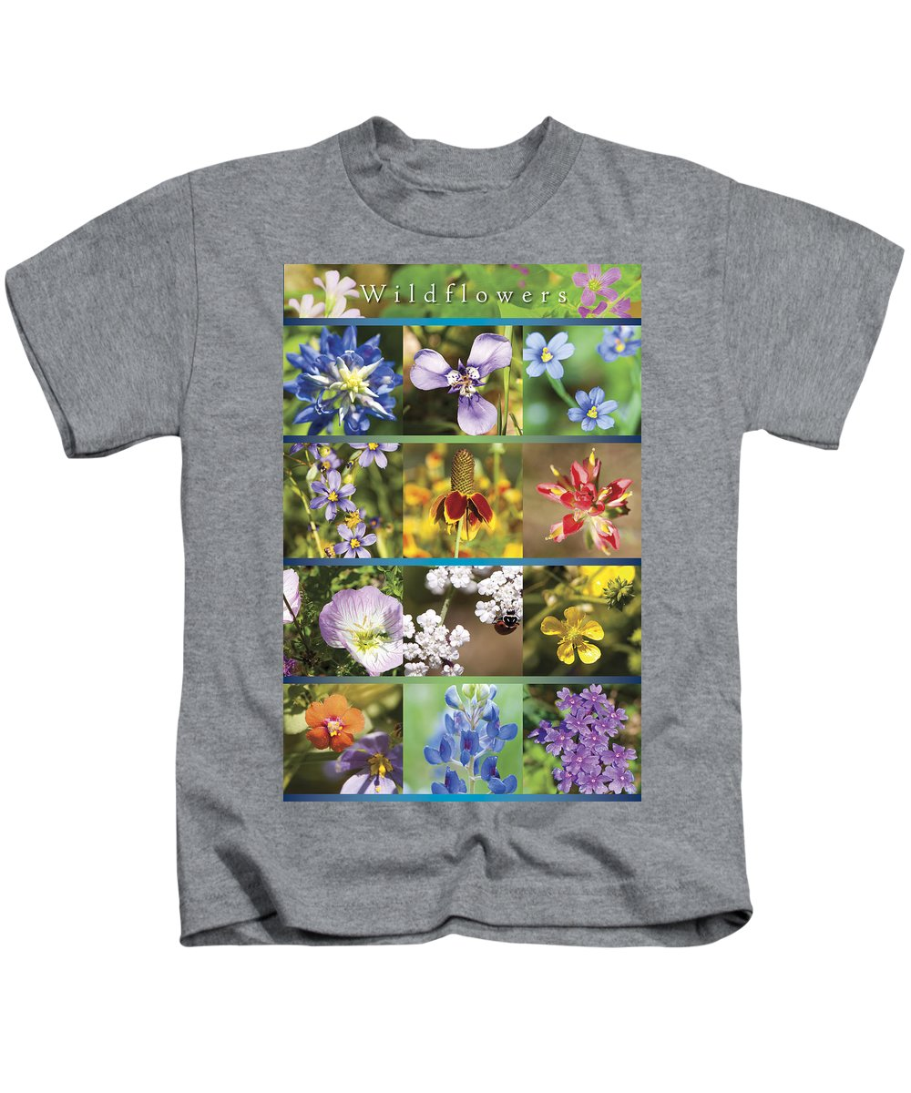 Wildflowers Kids T-Shirt featuring the photograph Spring Wildflowers II by Stephen Anderson