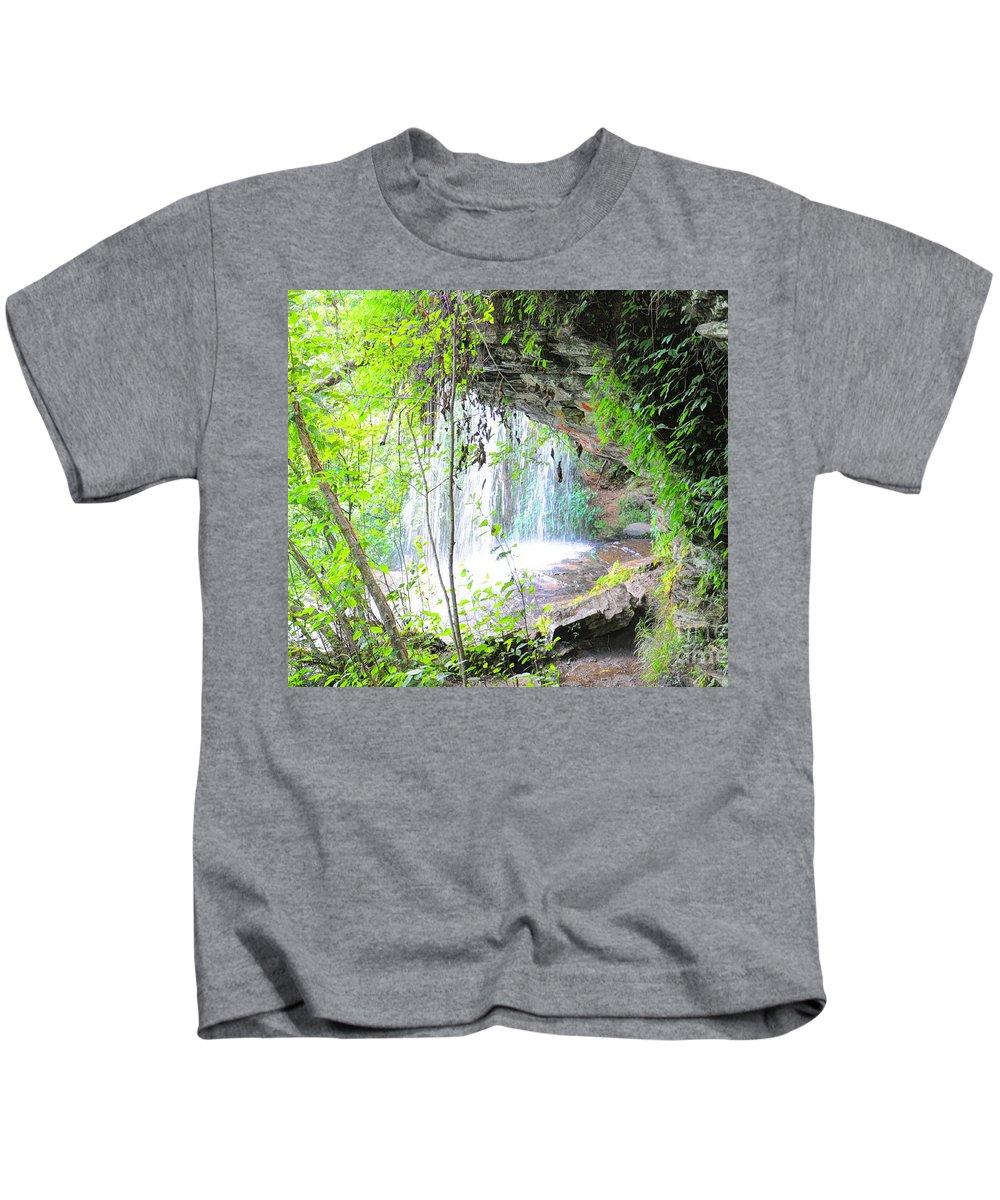 Stumphouse Tunnel Kids T-Shirt featuring the photograph Stumphouse Tunnel by Savannah Gibbs