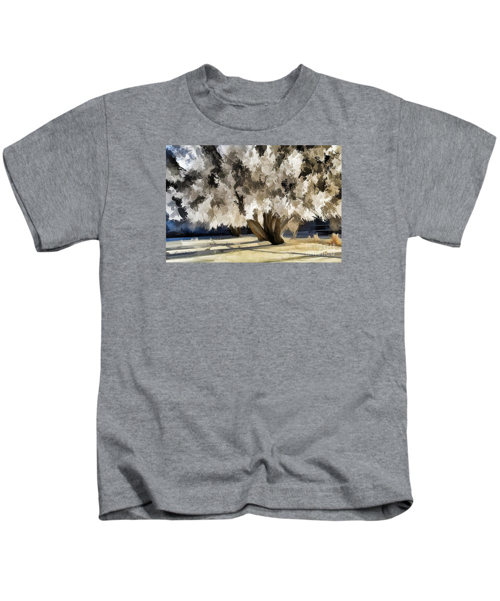 Winter Kids T-Shirt featuring the photograph Sunlight by Roland Stanke