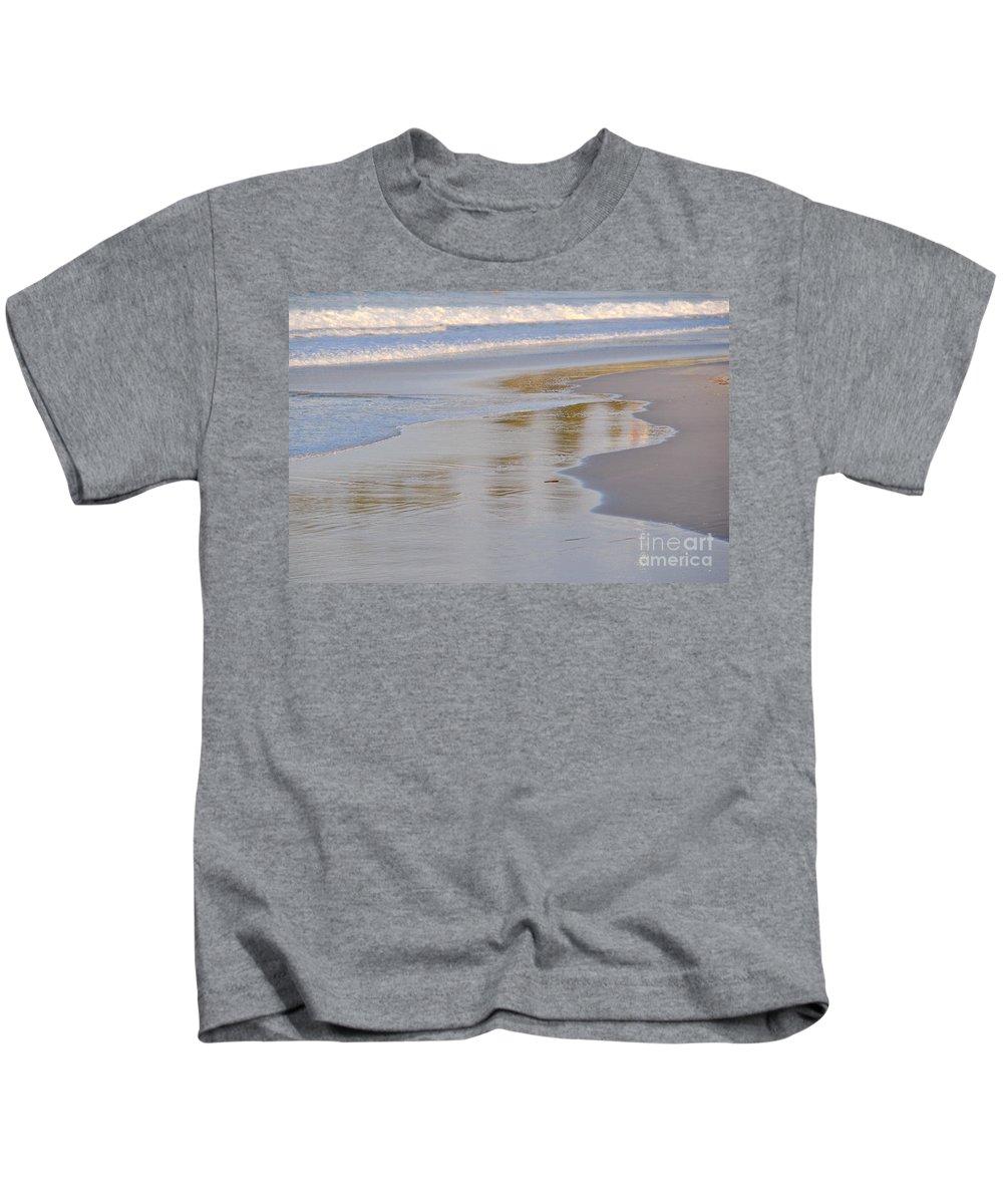 Gold Coast Kids T-Shirt featuring the photograph Sunset Reflections by Csilla Florida