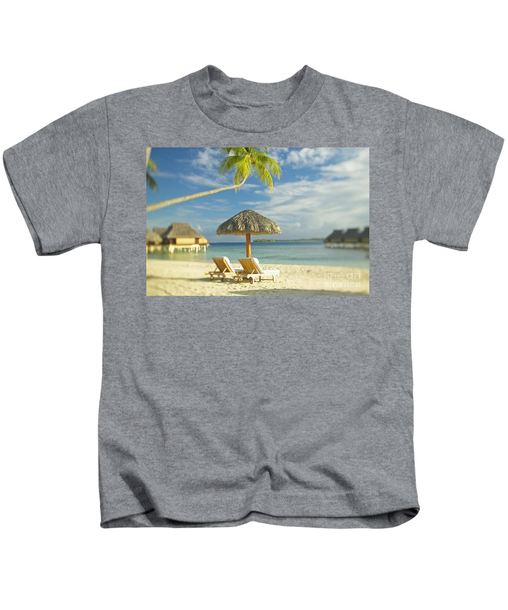 Beach Kids T-Shirt featuring the photograph Tahiti, Bora Bora by Kyle Rothenborg - Printscapes