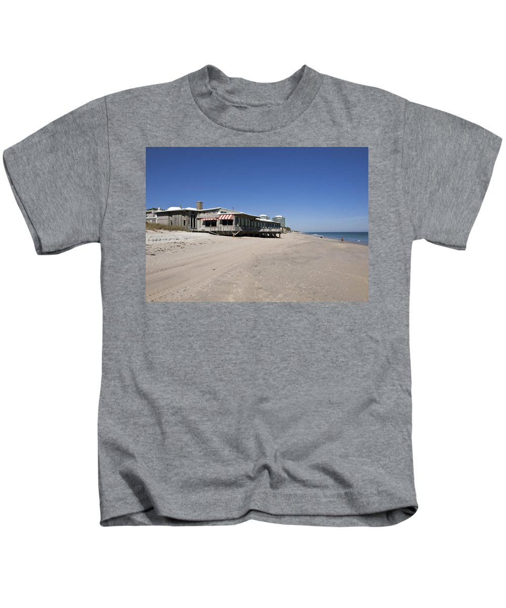Florida Kids T-Shirt featuring the photograph The Ocean Grill At Vero Beach In Florida by Allan Hughes
