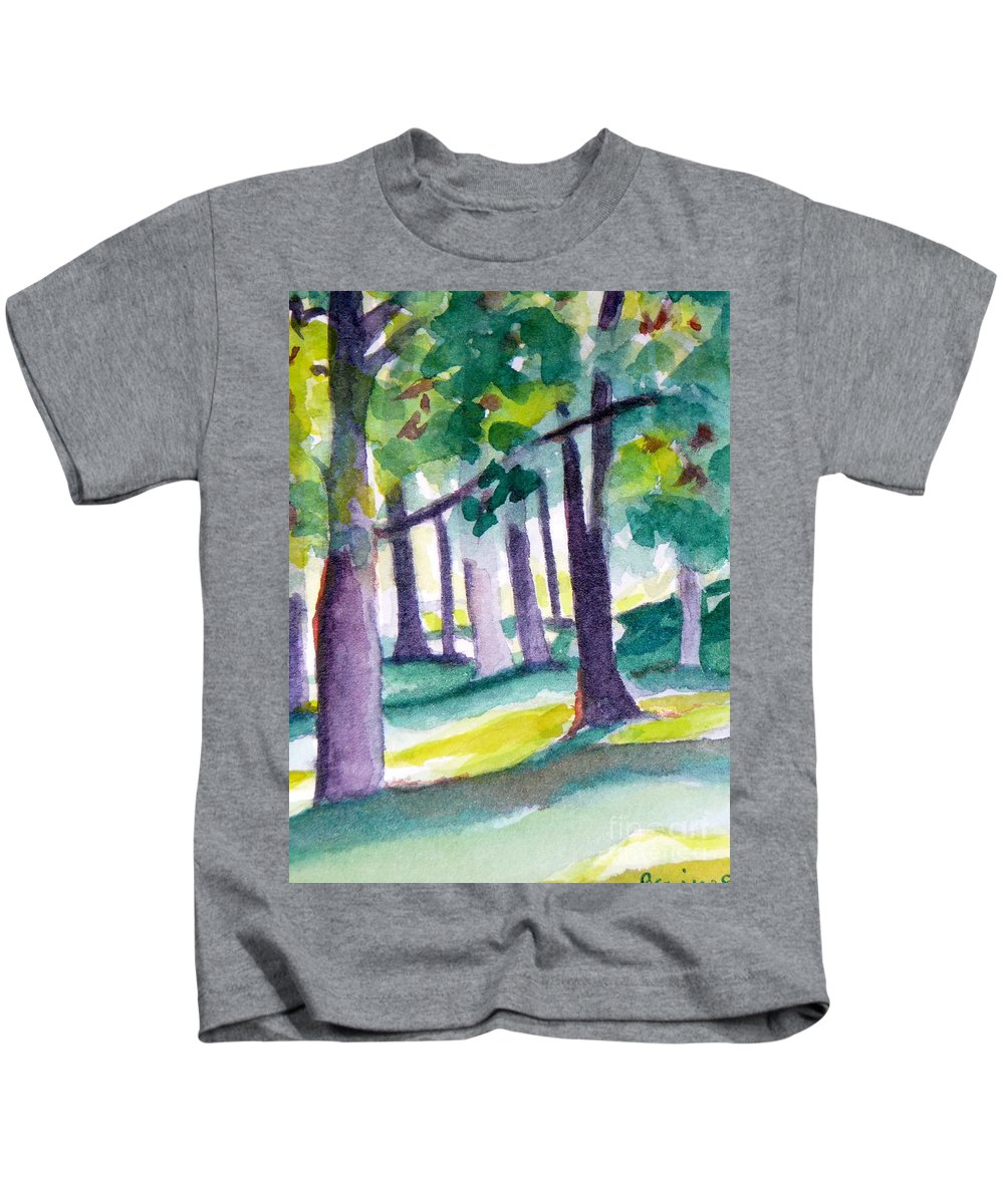 Nature Kids T-Shirt featuring the painting The Perfect Day by Jan Bennicoff