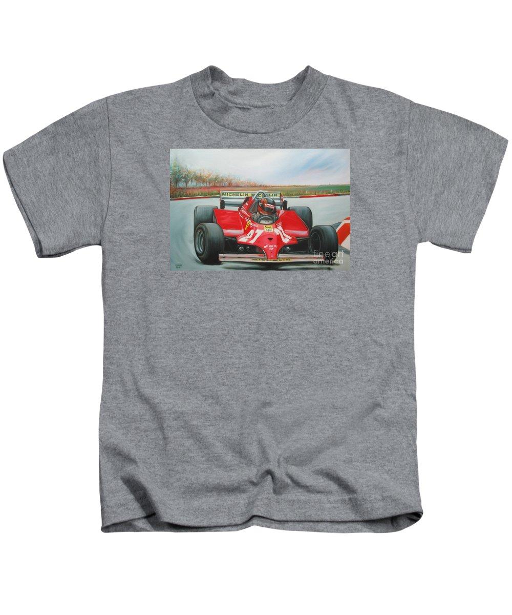 Race Kids T-Shirt featuring the painting The Racing Car by Sukalya Chearanantana