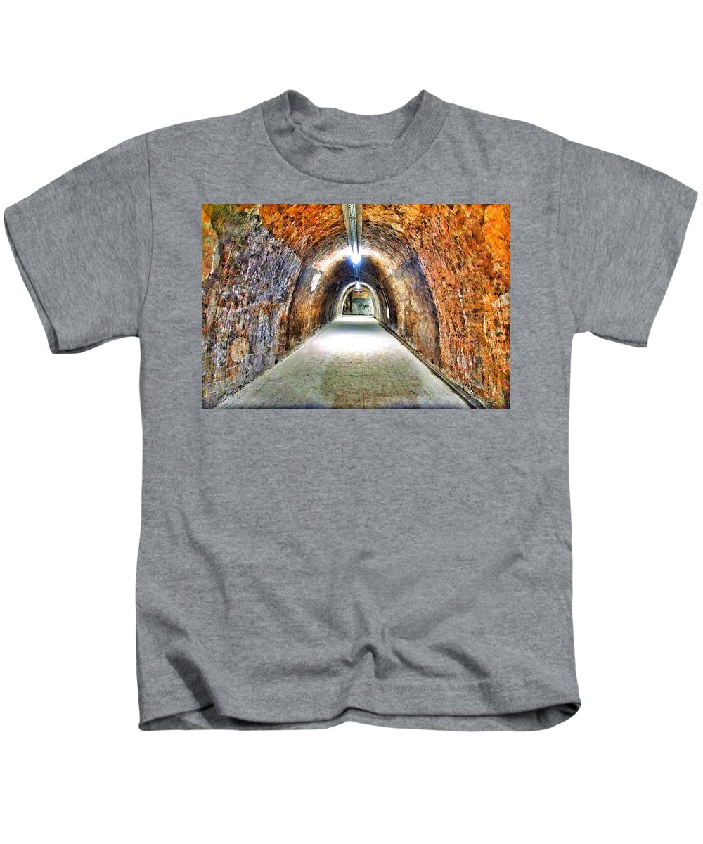 Color Kids T-Shirt featuring the photograph Tunnel by Darko Horvatic