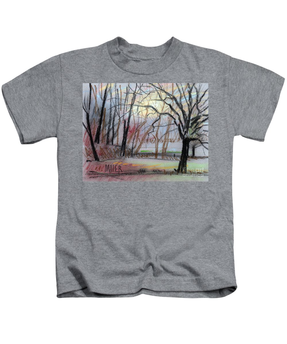 Landscape Kids T-Shirt featuring the drawing Turner South by Donald Maier