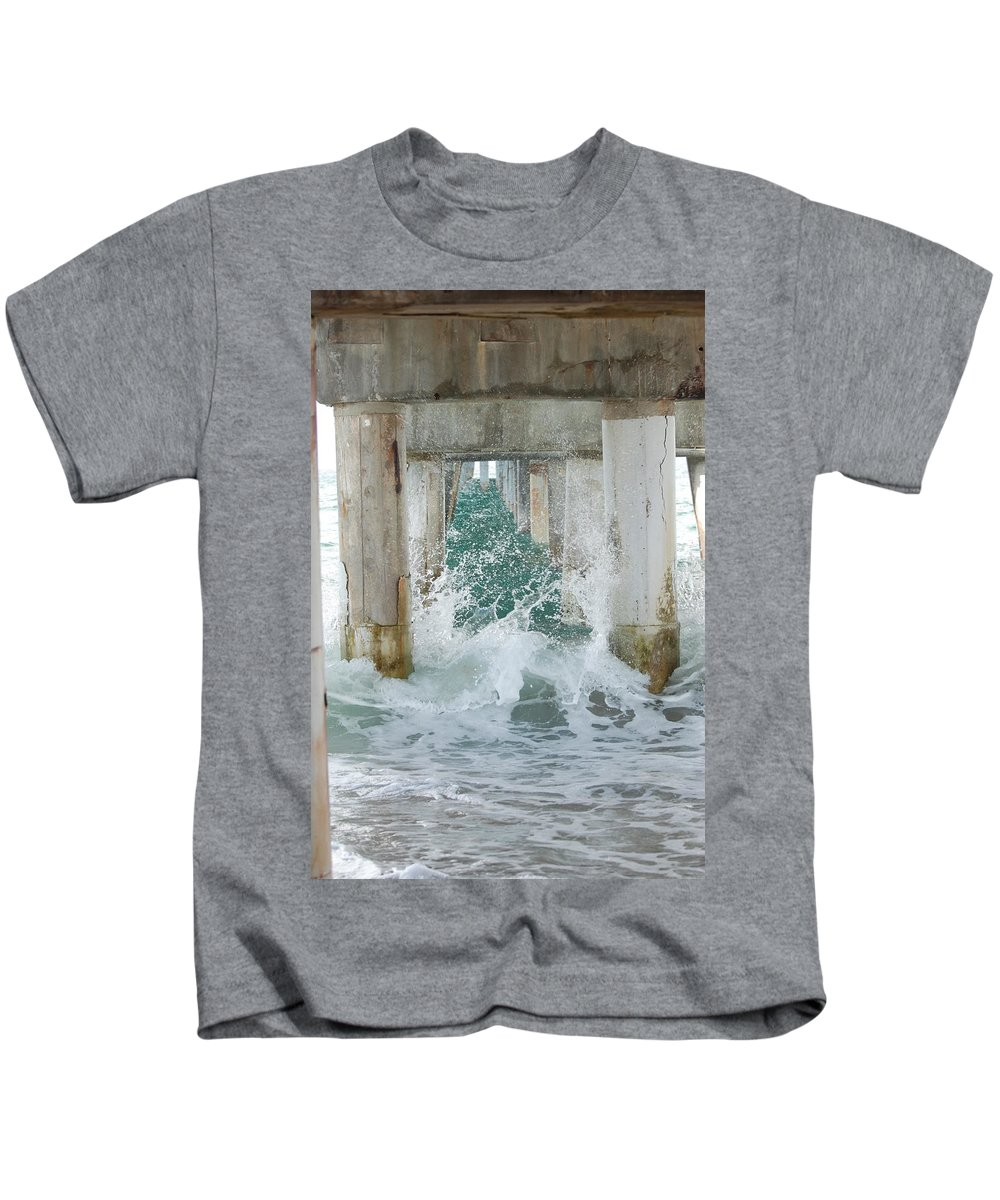 Ocean Kids T-Shirt featuring the photograph Under The Boardwalk by Rob Hans