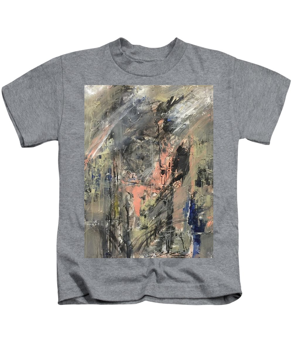 Acrylic Kids T-Shirt featuring the painting Untitled by Elham Ghorbani
