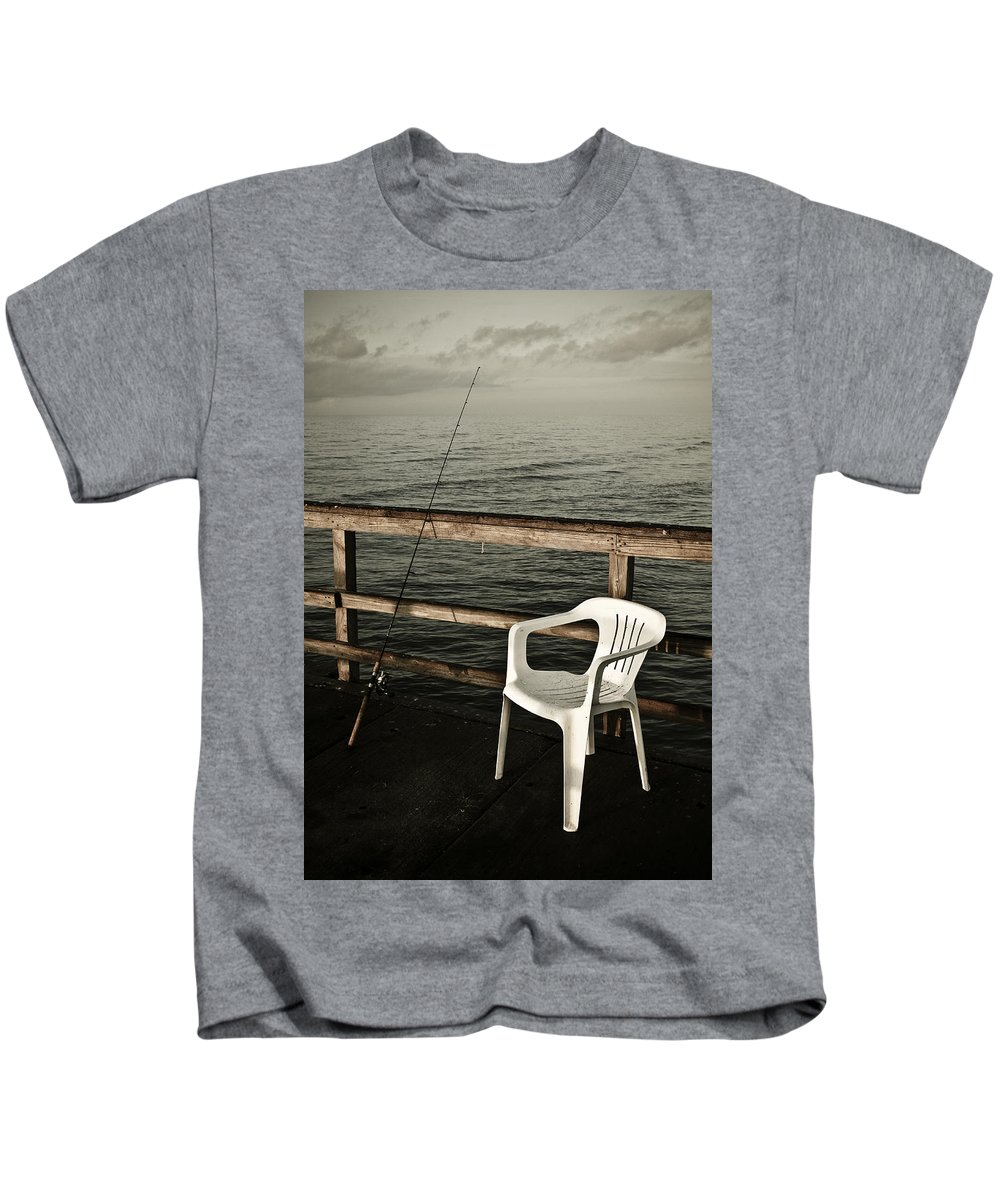 Fish Kids T-Shirt featuring the photograph Waiting by Marilyn Hunt
