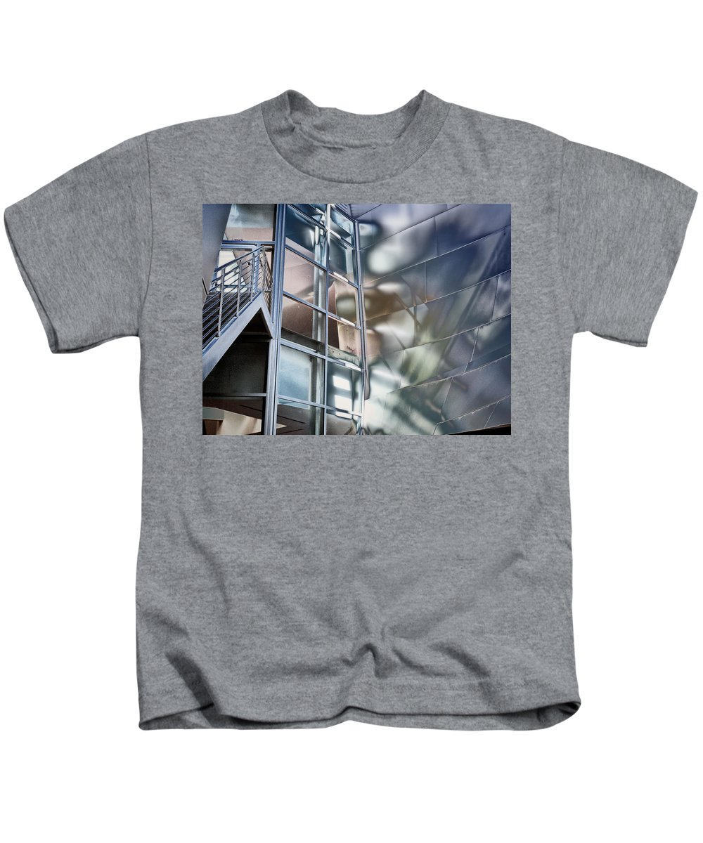 Los Angeles Kids T-Shirt featuring the photograph Walt Disney Hall by Claude LeTien