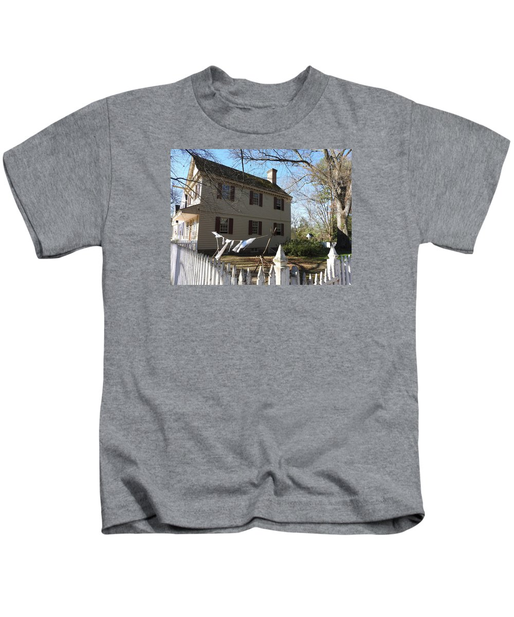 Ann Keisling Kids T-Shirt featuring the photograph Wash Day by Ann Keisling