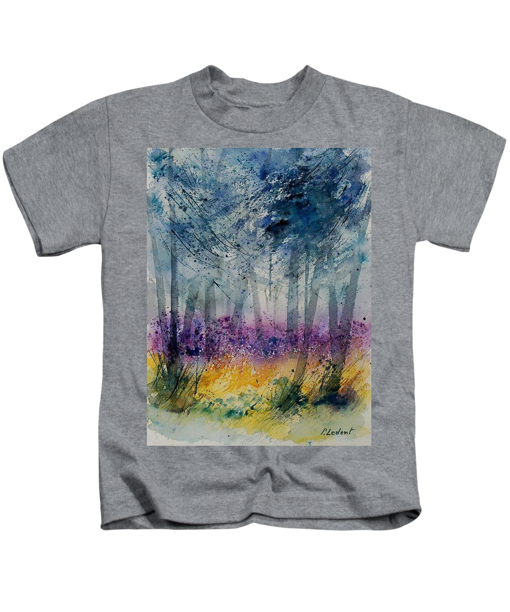 Flowers Kids T-Shirt featuring the painting Watercolor 130608 by Pol Ledent