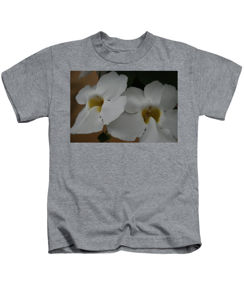 Macro Kids T-Shirt featuring the photograph White Orchids by Rob Hans