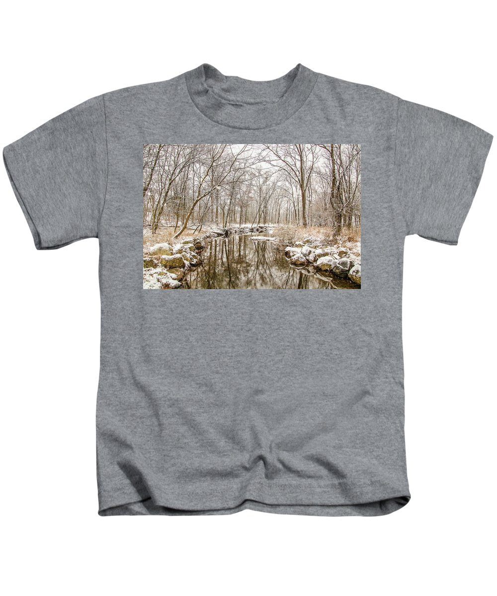 Snow Kids T-Shirt featuring the photograph Winter Reflections by Susan Grove