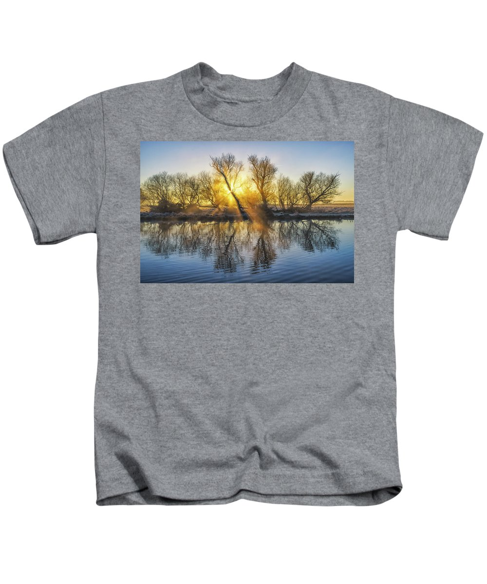 Cold Kids T-Shirt featuring the photograph Winter Sunrise Over The Ouse by James Billings