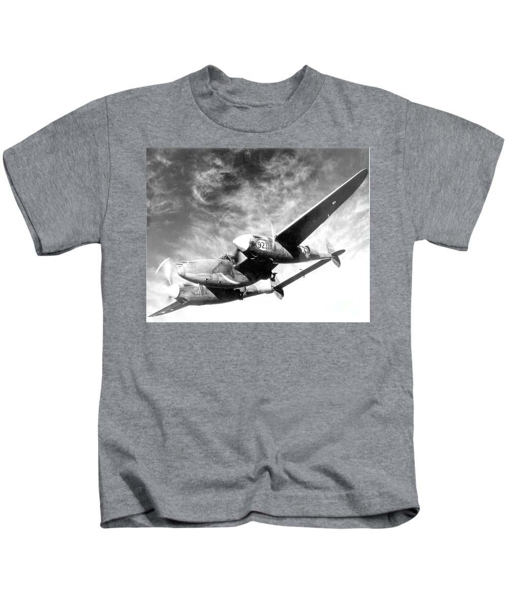 Science Kids T-Shirt featuring the photograph Wwii, Lockheed P-38 Lightning, 1940s by Science Source