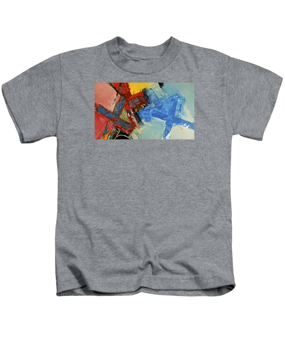 Abstract Paintings Kids T-Shirt featuring the painting 10 20 30 by Cliff Spohn