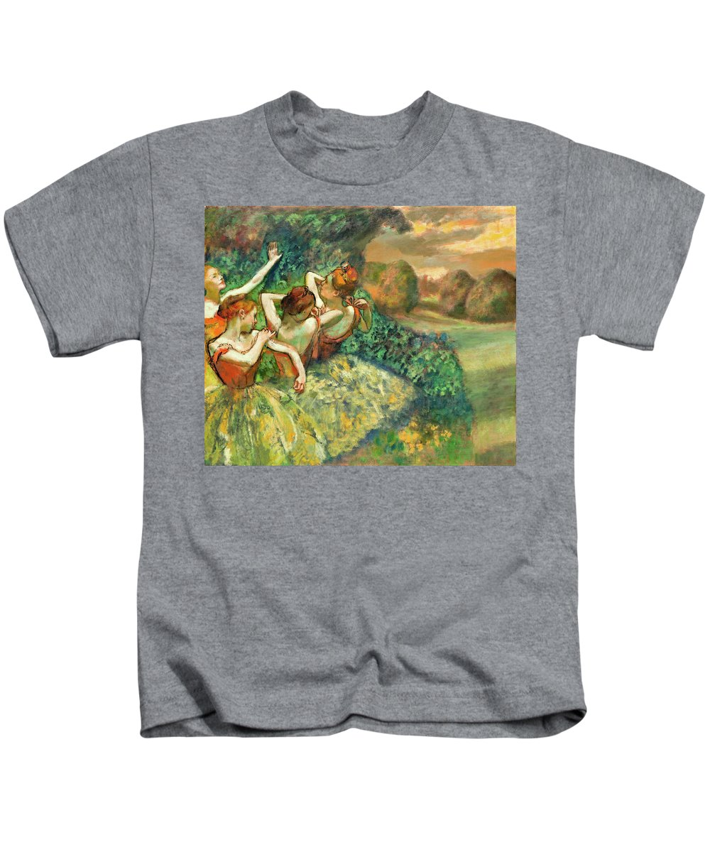 Dancers Kids T-Shirt featuring the painting Four Dancers by Edgar Degas