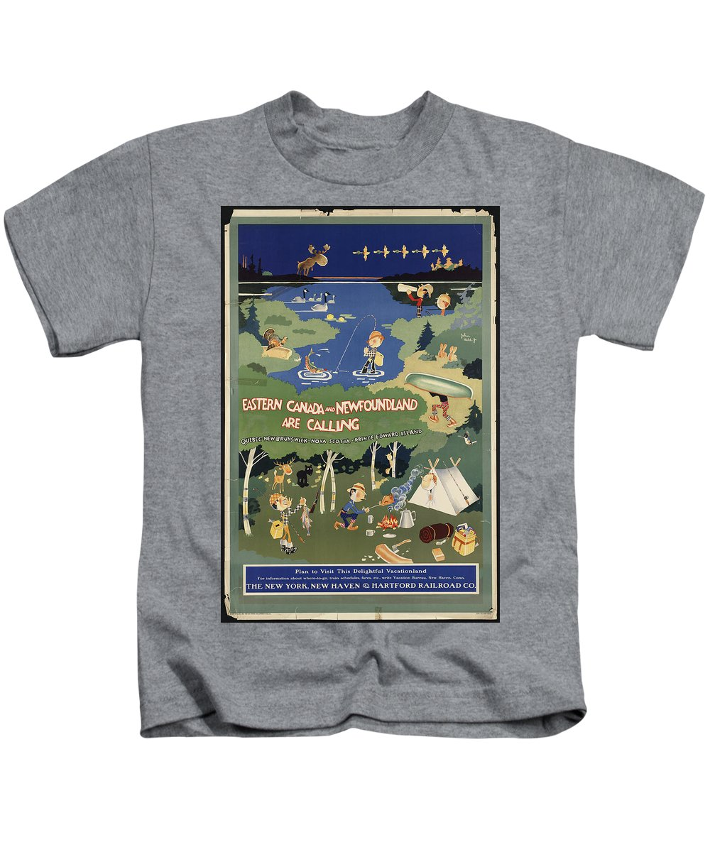 Public-domain-images-free-vintage-posters-0076 Kids T-Shirt featuring the painting Public Domain Images by MotionAge Designs