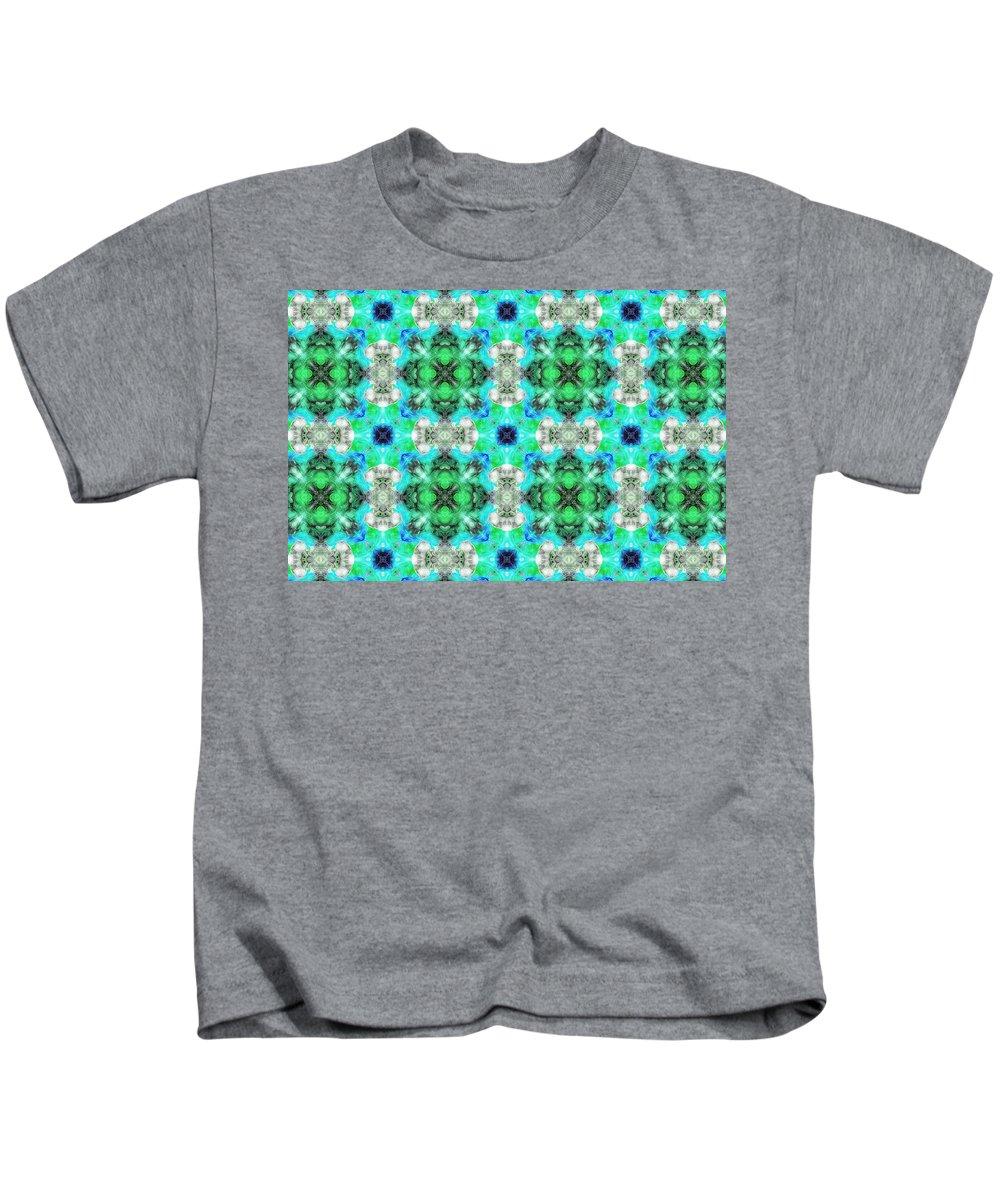 Marjan Mencin Kids T-Shirt featuring the digital art Arabesque 109 by Marjan Mencin