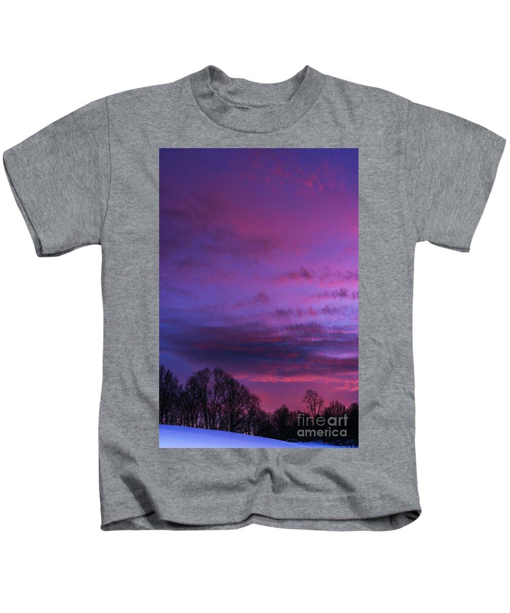 Sunset Kids T-Shirt featuring the photograph Appalachian Afterglow by Thomas R Fletcher