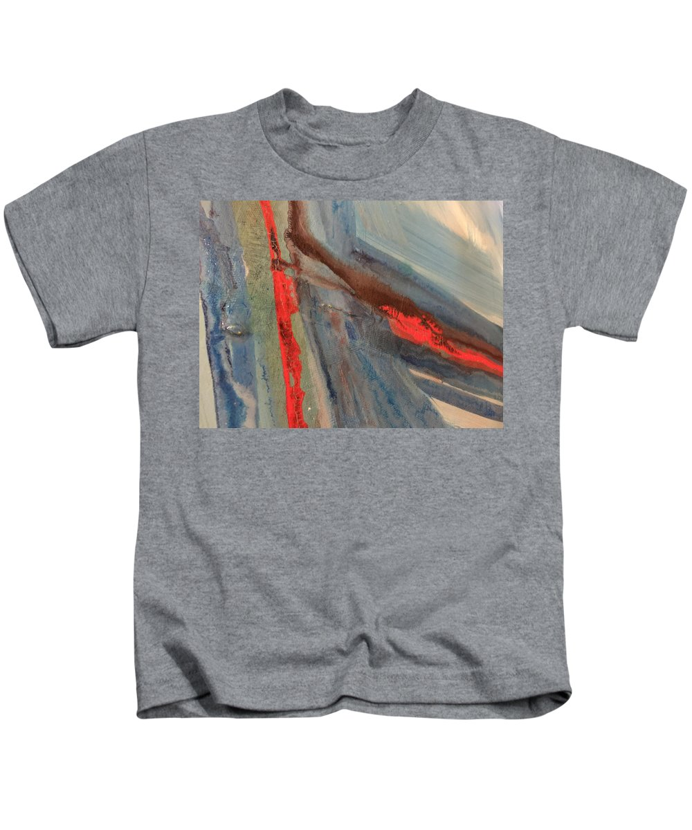 Abstract Kids T-Shirt featuring the painting Untitled by Kyle Braund