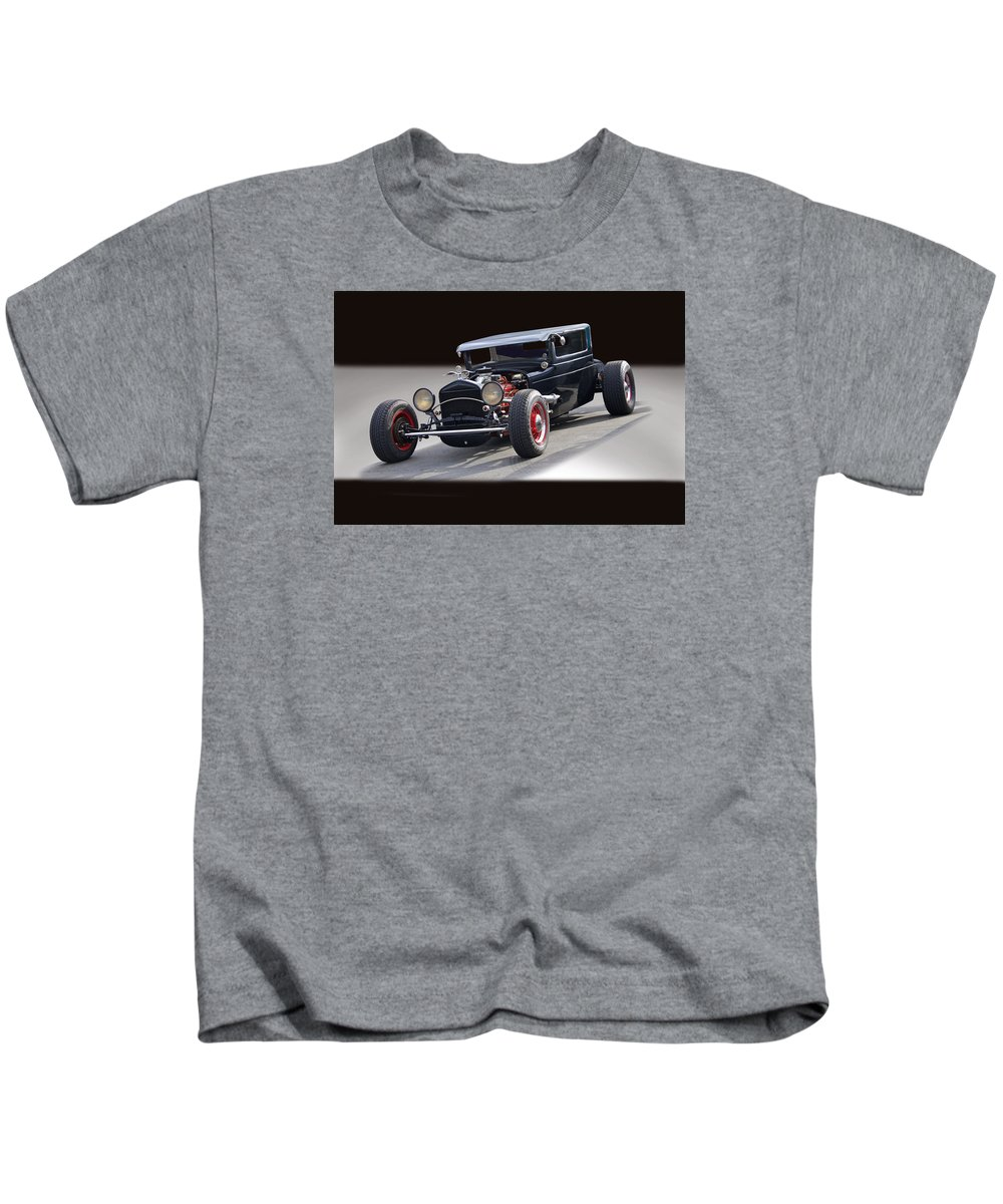 Auto Kids T-Shirt featuring the photograph 1928 Chrysler Coupe 'studio' IIi by Dave Koontz