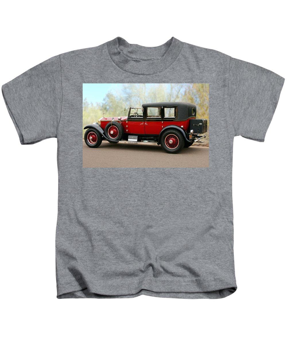 Classic Car Kids T-Shirt featuring the photograph 1928 Rolls-royce Phantom 1 by Jill Reger