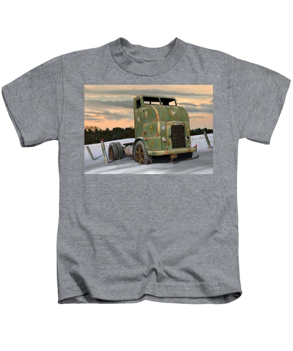 Corbitt Kids T-Shirt featuring the digital art 1951 Corbitt by Stuart Swartz