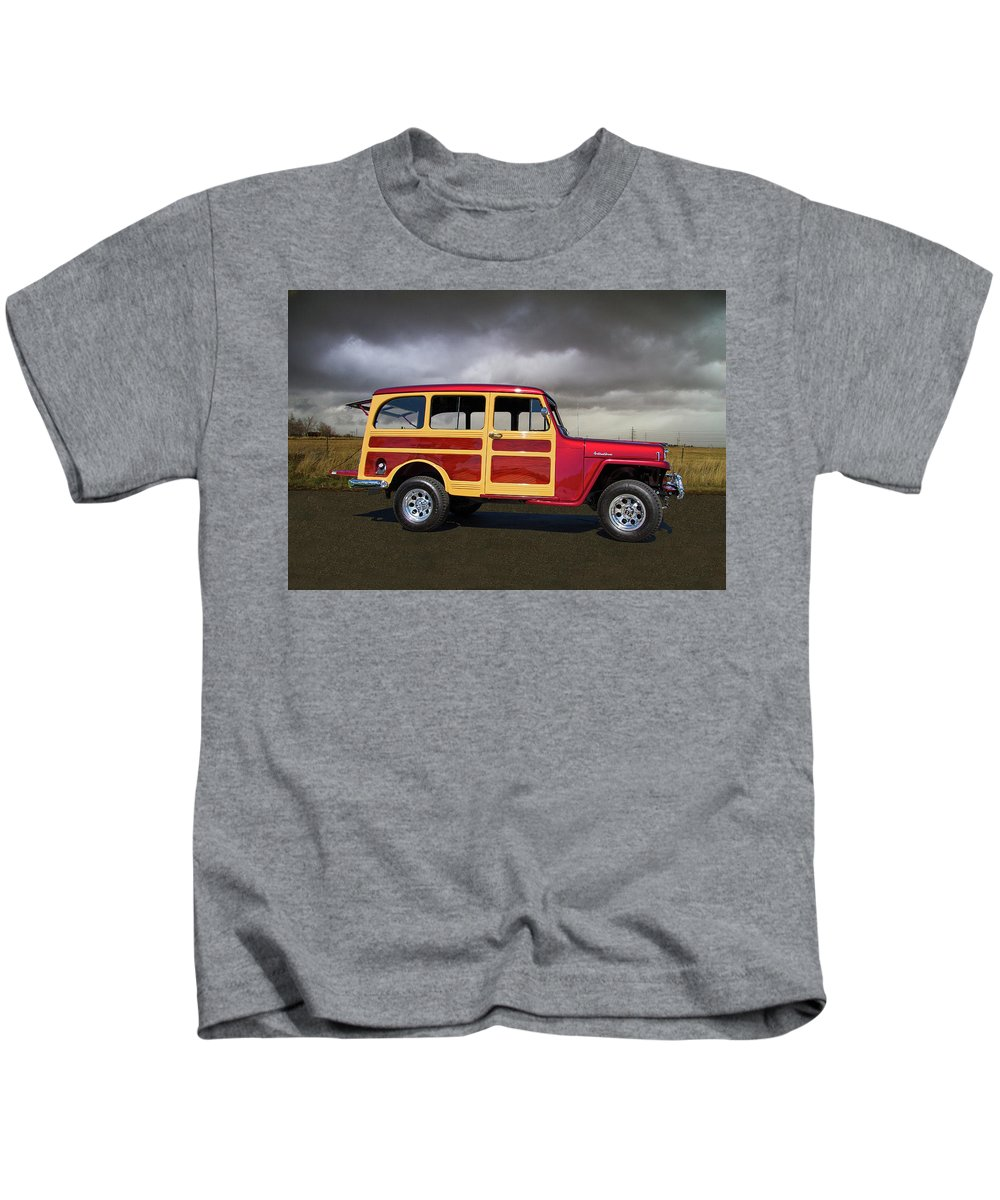 1951 Kids T-Shirt featuring the photograph 1951 Willy's Jeepster by Nick Gray