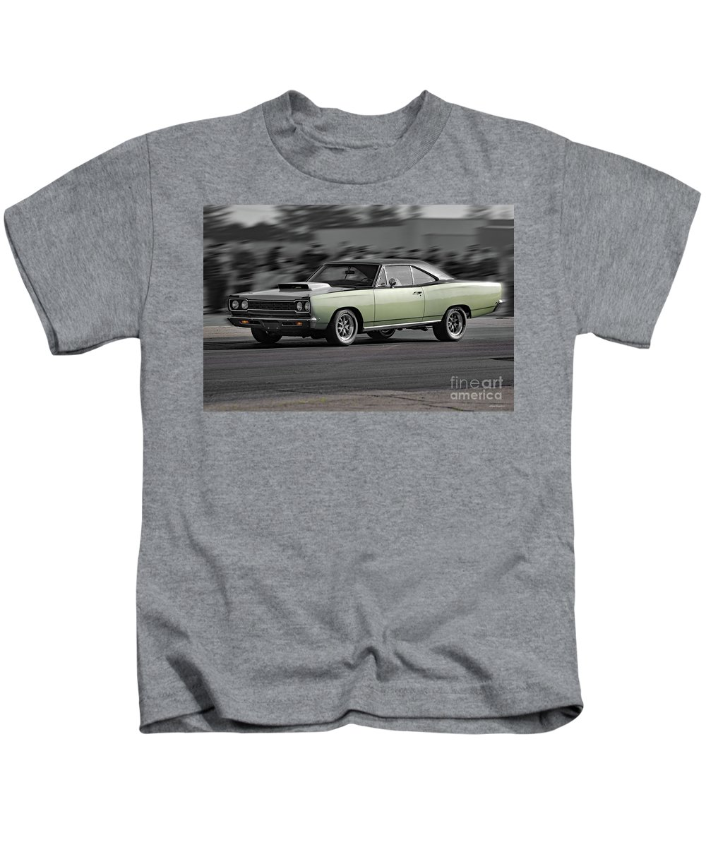 Automobile Kids T-Shirt featuring the photograph 1968 Plymouth Satellite by Dave Koontz