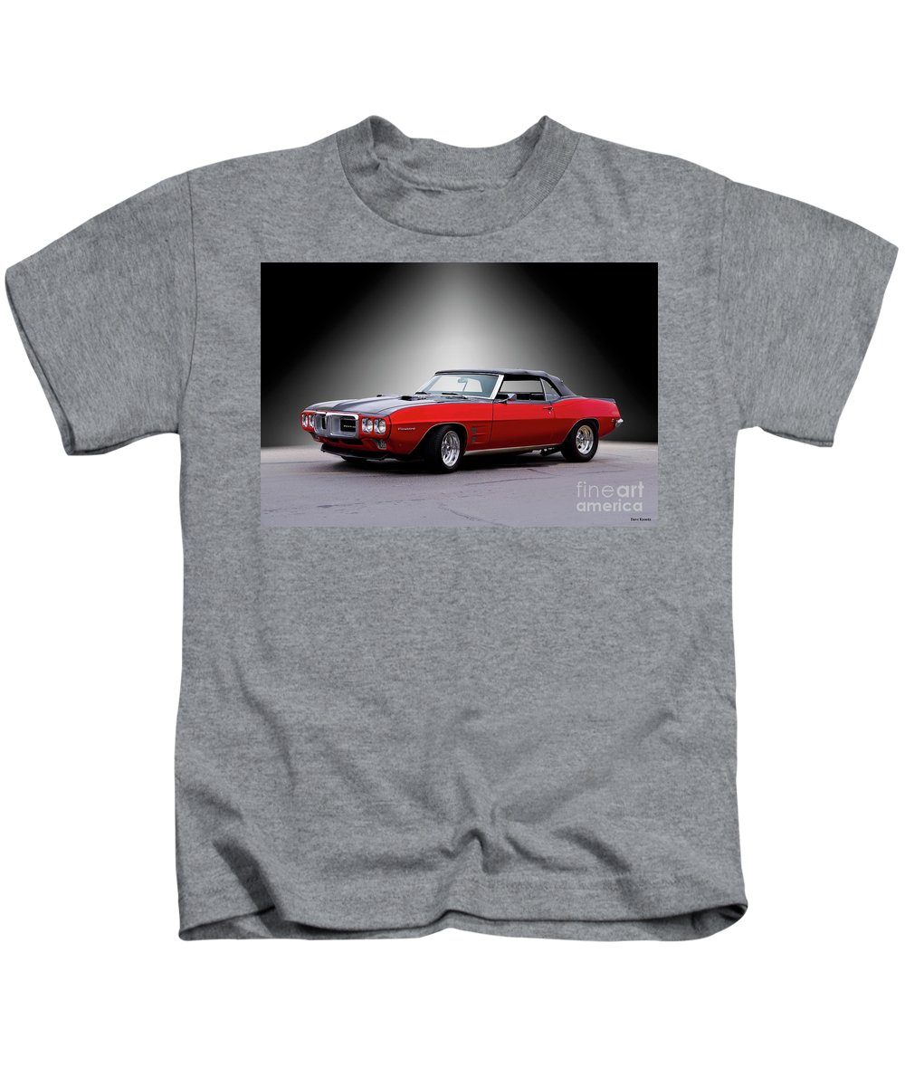 Automobile Kids T-Shirt featuring the photograph 1968 Pontiac Firebird 400 Convertible by Dave Koontz