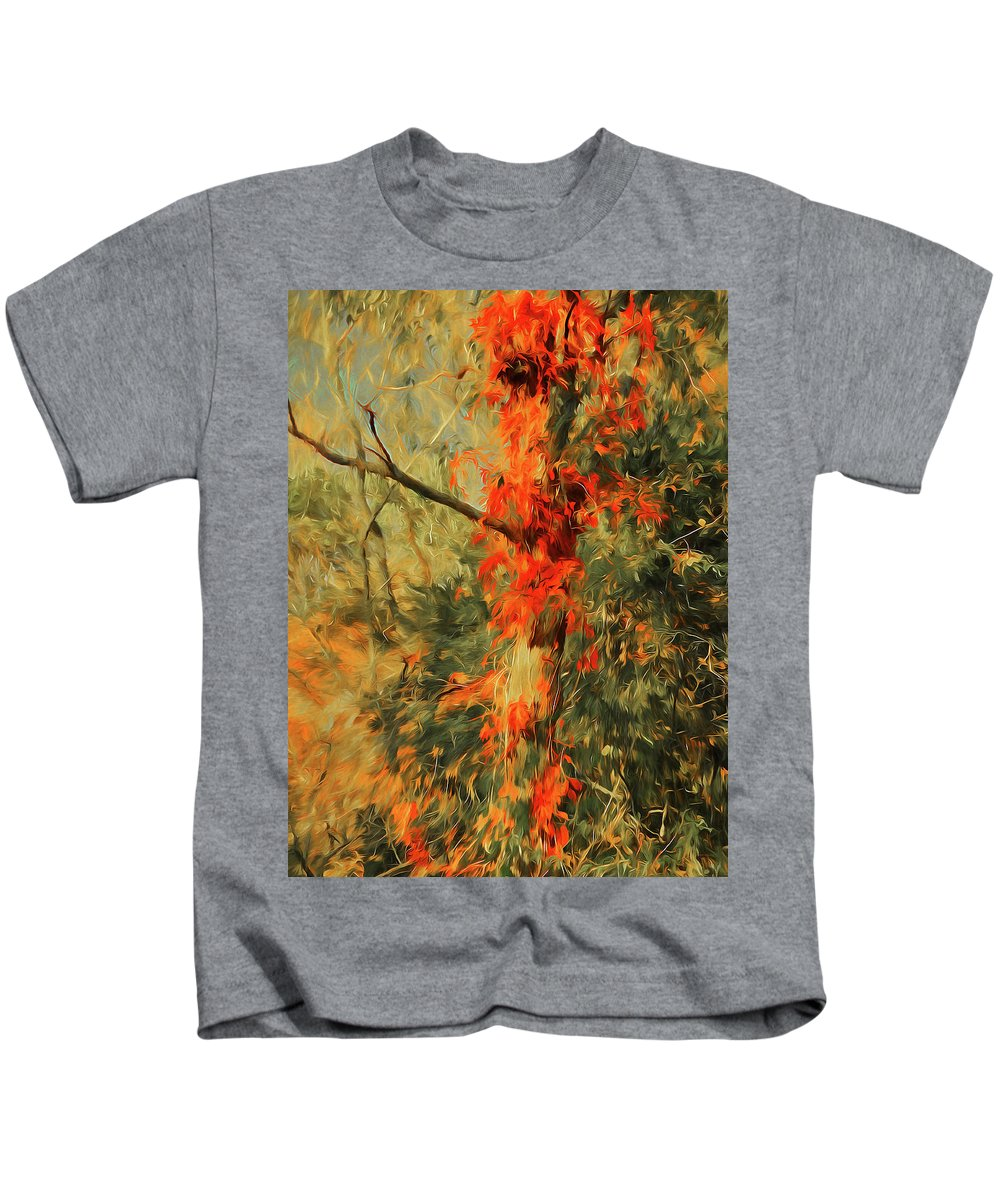 Fall Kids T-Shirt featuring the painting Autumn Landscape #4 by Alex Galkin