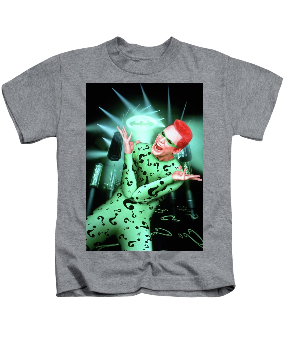 Batman Forever 1995 Kids T-Shirt featuring the digital art Batman Forever 1995 by Geek N Rock