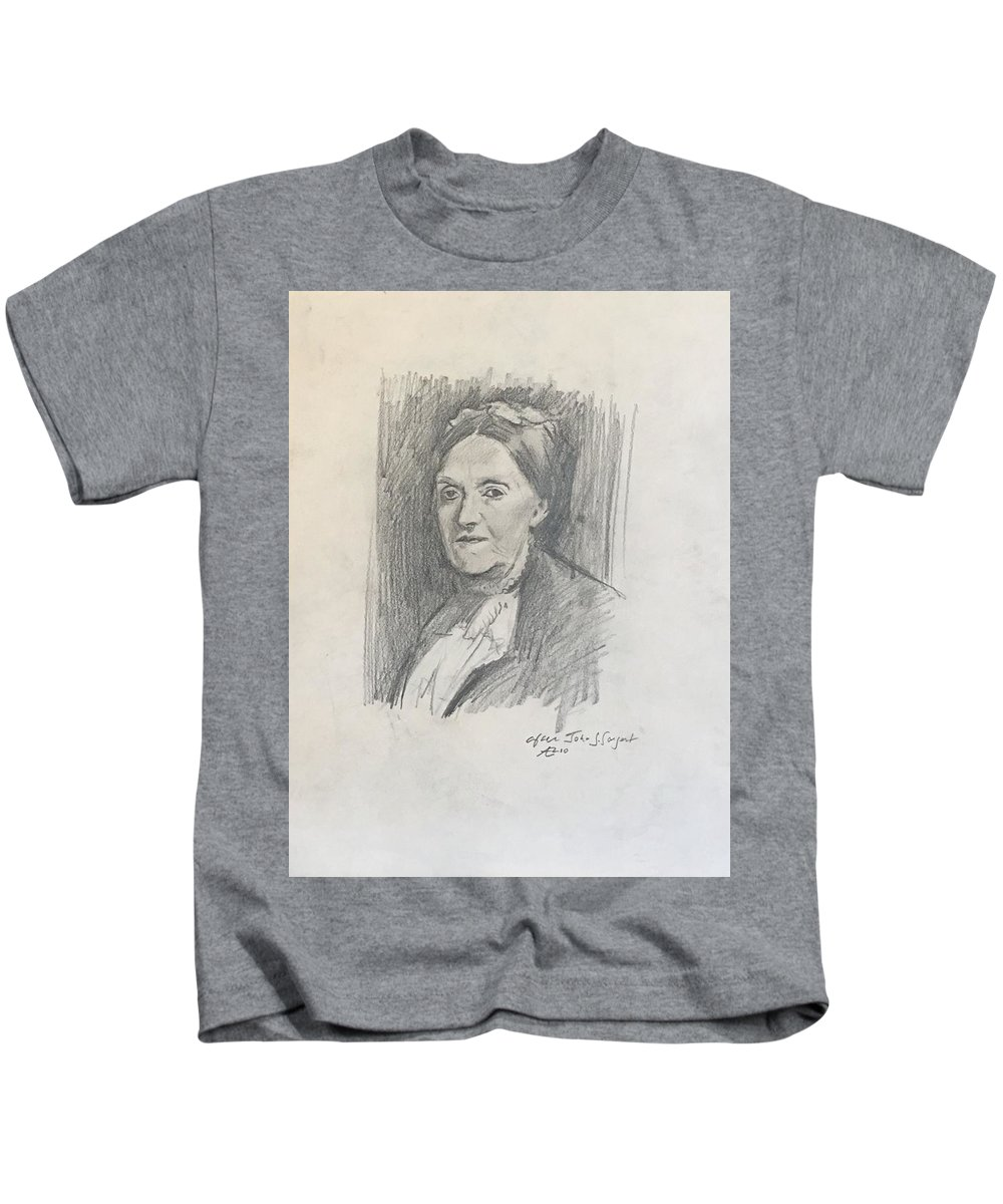Kids T-Shirt featuring the drawing Copy Of Sargent by Alejandro Lopez-Tasso