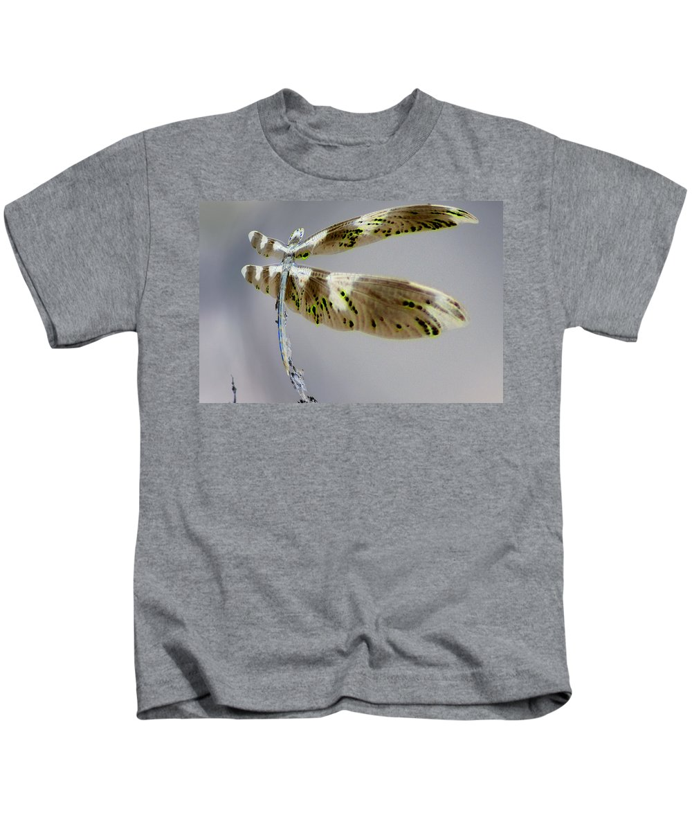 Abstract Kids T-Shirt featuring the photograph Dragonfly by Jeff Swan