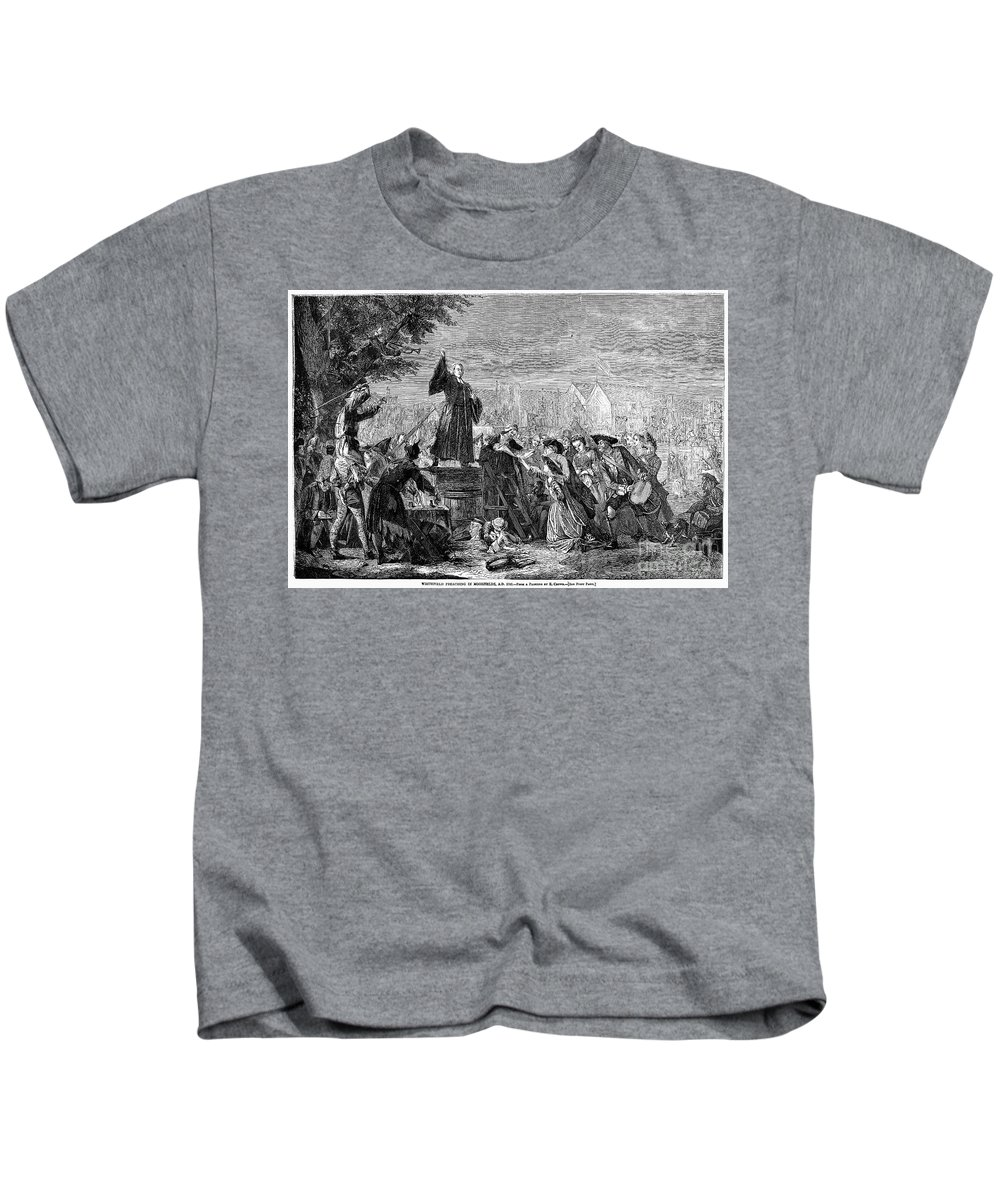 1742 Kids T-Shirt featuring the photograph George Whitefield by Granger
