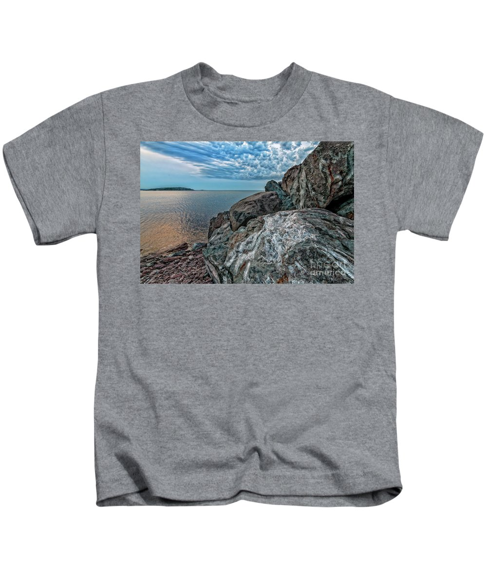 Lighthouse Kids T-Shirt featuring the photograph Lake Superior by Upper Peninsula Photography