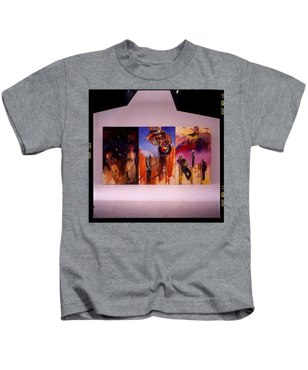 Canvas Kids T-Shirt featuring the painting Love Hurts by Charles Stuart